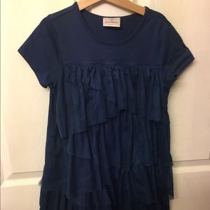 Hanna Andersson girls 140 navy tulle dress